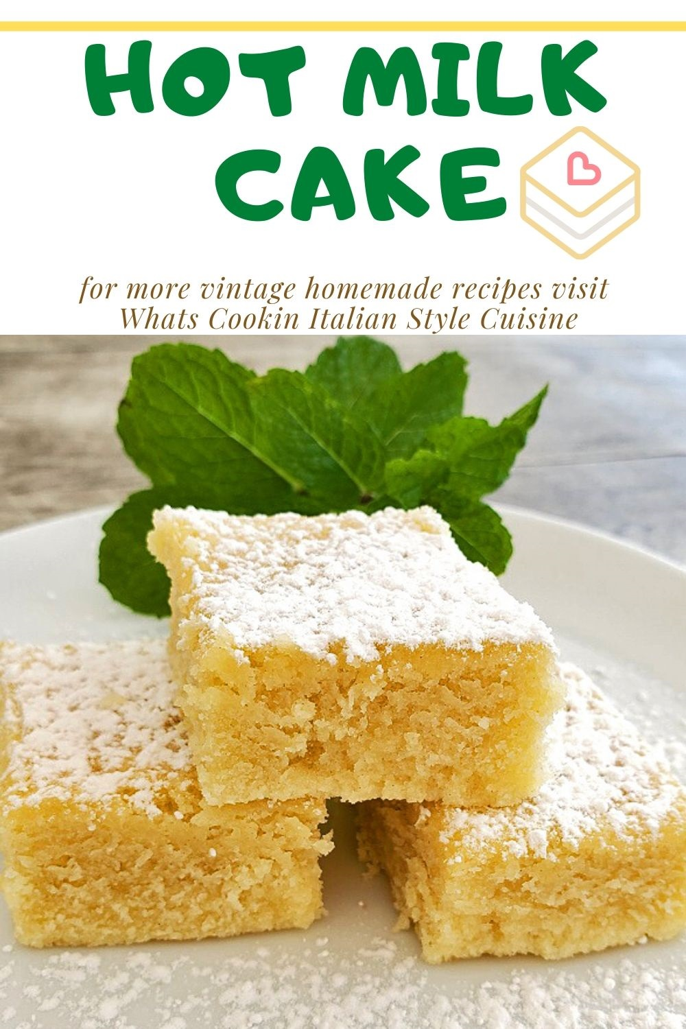 this is a pin for later on how to make hot milk cake