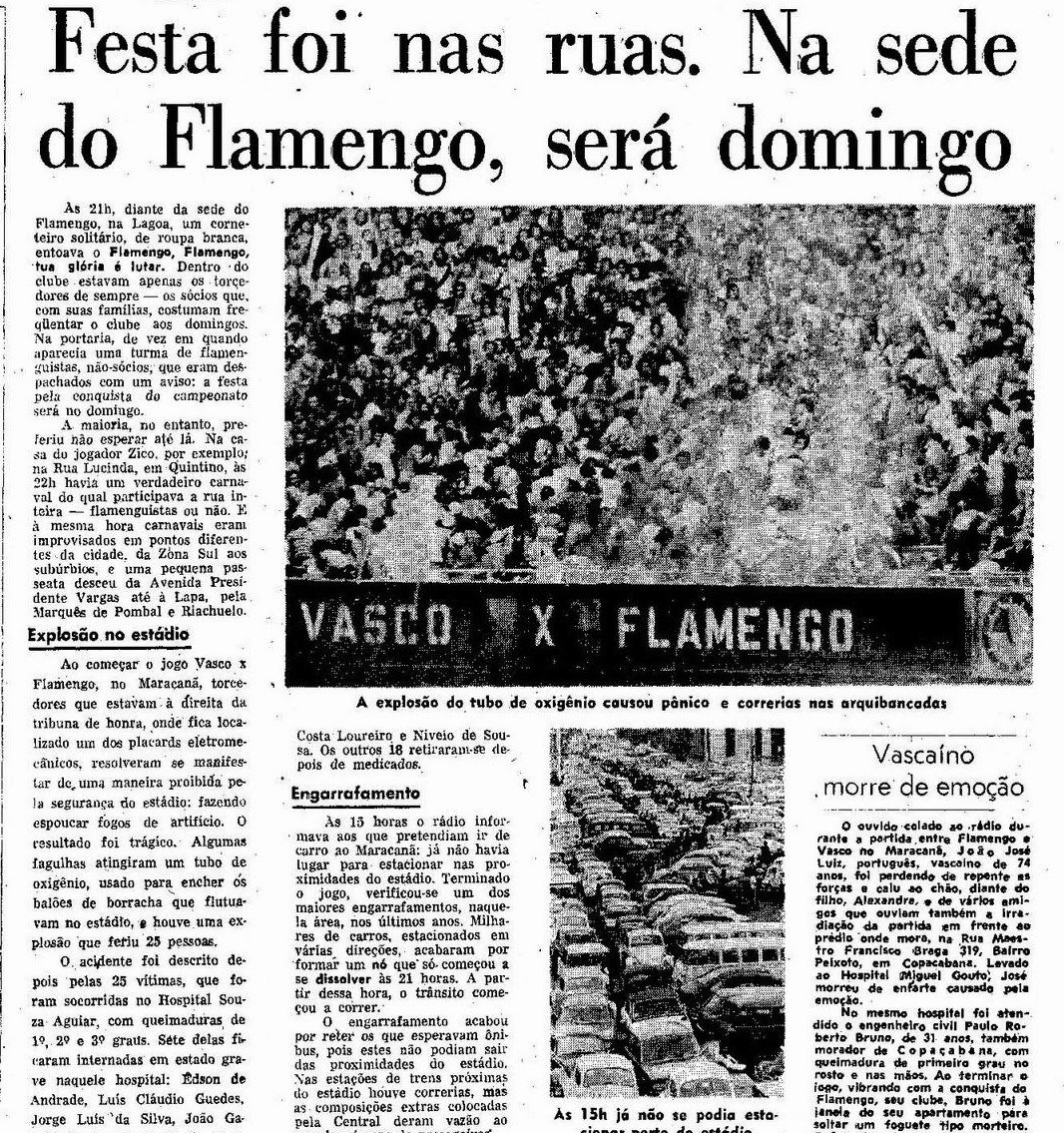 Torcidas do Vasco  FORÇA JOVEM 1974  FINAL DO CARIOCA EXPLOSÃO DE ... 797e69a913e71