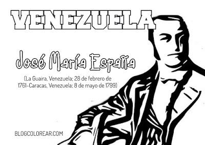 Dibujo para colorear de José Maria España