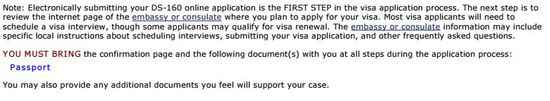 My successful US non-immigrant (DS-160) visa interview in
