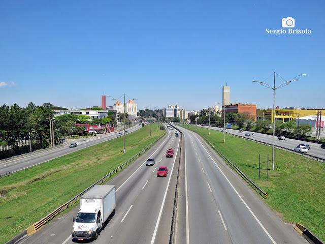 Vista de trecho da Rodovia Anchieta na Zona Sul de São Paulo