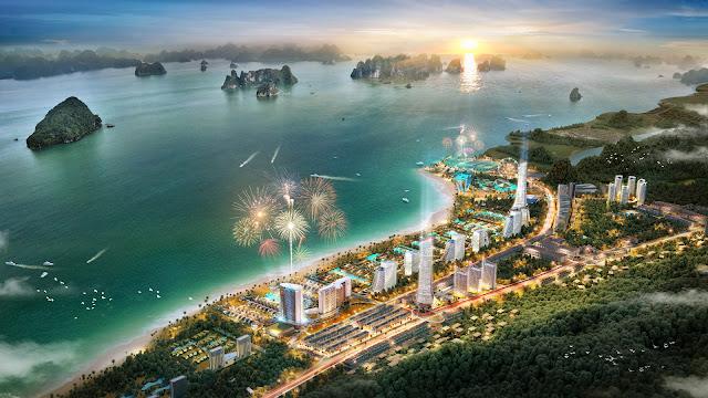 Phối cảnh dự án Sonasea Vân Đồn Harbor City