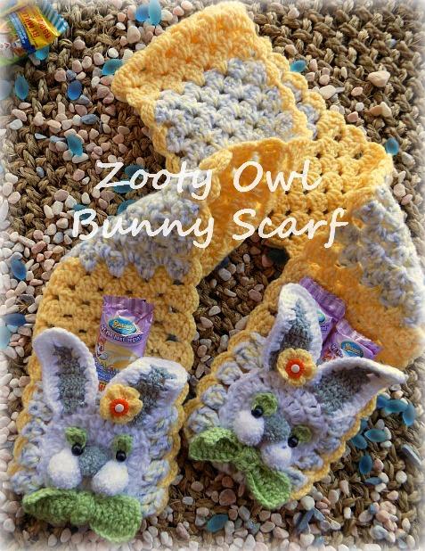 crochet bunny scarf