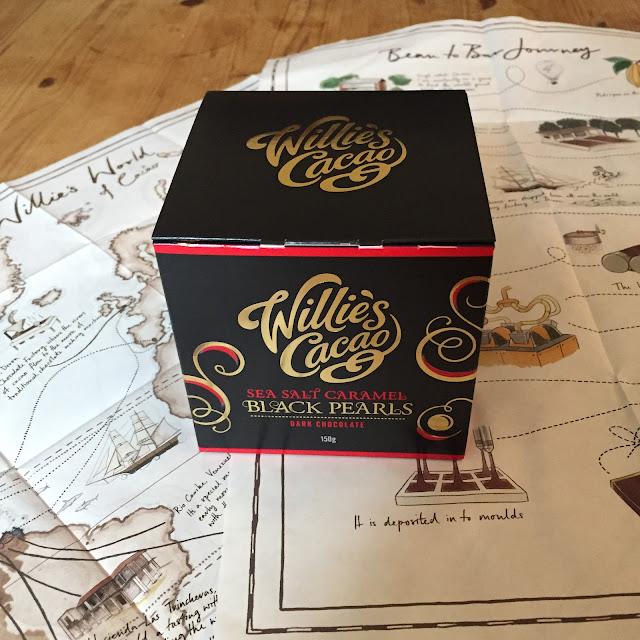 Willies Cacao Black Pearls: Sea Salt Caramel