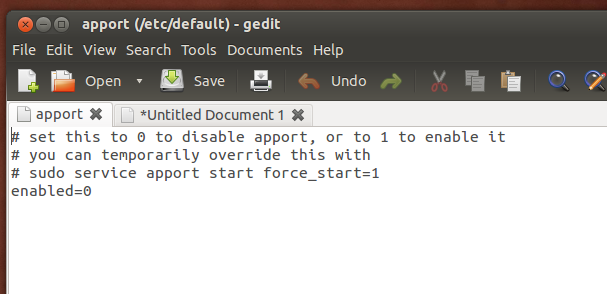 Disable Error Messages from Appearing in Ubuntu