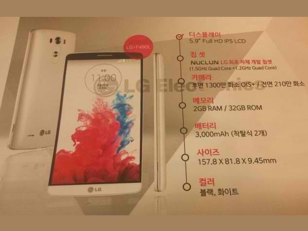 LG F490L Liger Shows Up In A Website! Comes with 5.9-inch 1080p Screen and LG Odin Octa-core Processo