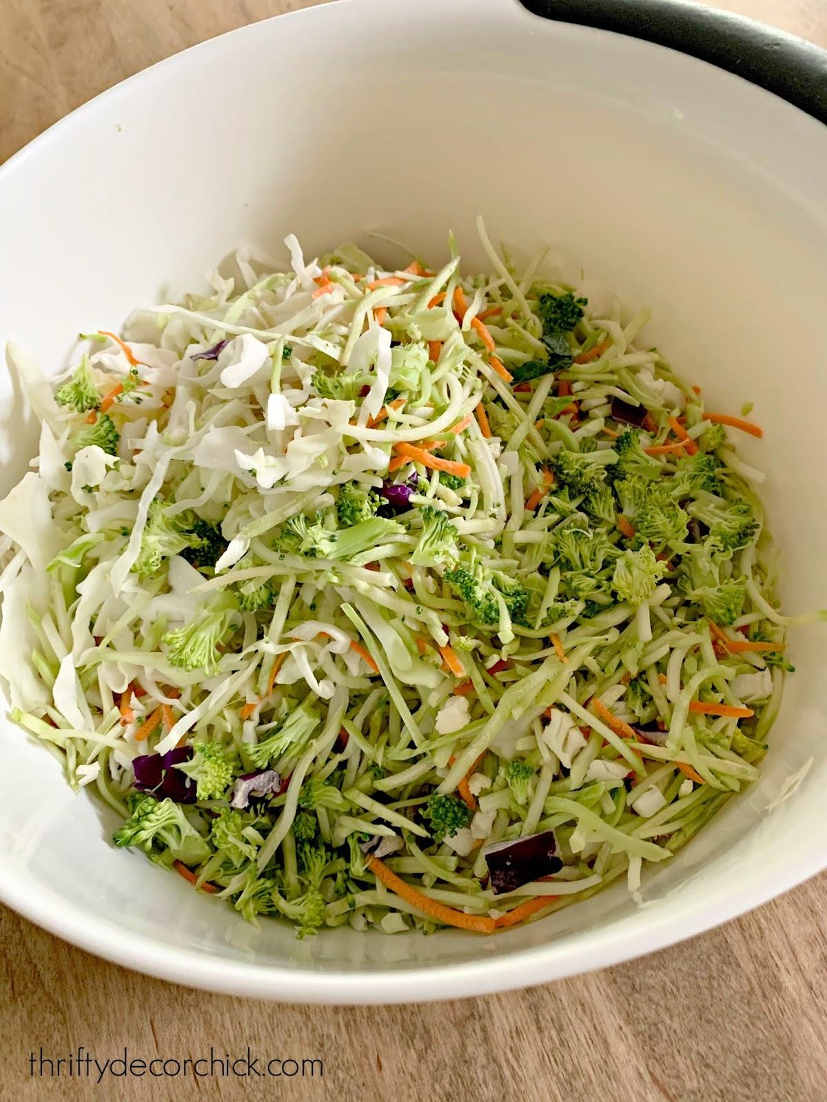 Asian ramen crunchy salad