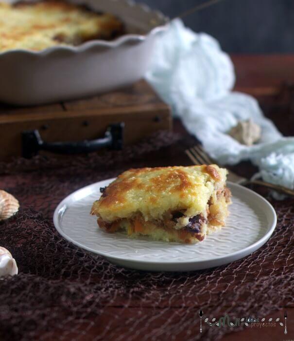 receta fácil de pastel de bacalao