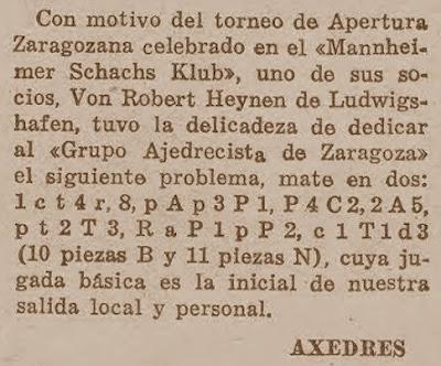Problema de ajedrez de José Juncosa