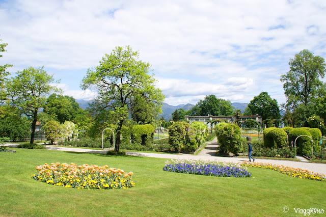 Il Giardino Fiorito all'interno del Parco Pallavicino di Stresa