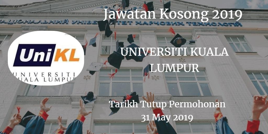 Jawatan Kosong UniKL 31 May 2019