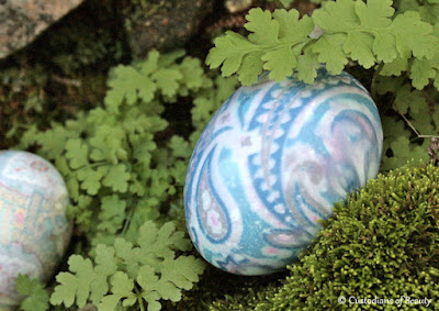 Easter Sunday 2016 | Neck Tie dyed Eggs | by CustodiansofBeauty.blogspot.com