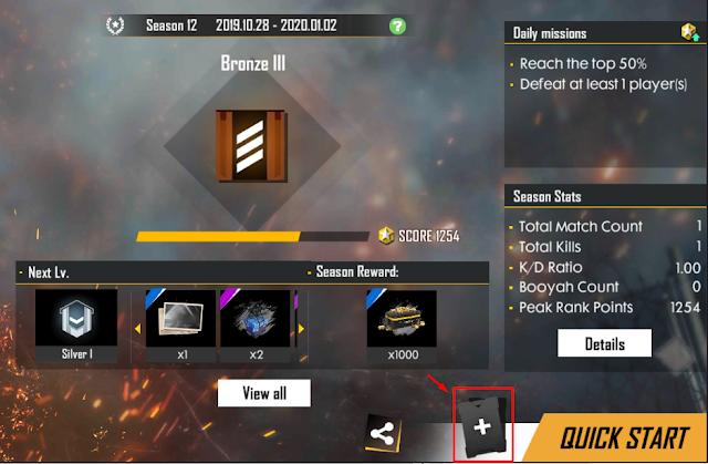 Cara Setting Loadout Item No Drop RP dan Double RP Free Fire