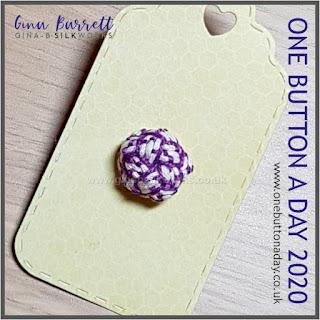 Day 237 : Dappled - One Button a Day 2020 by Gina Barrett