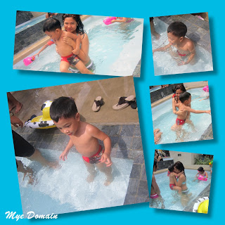 KIKO and ate AYA having fun in the pool