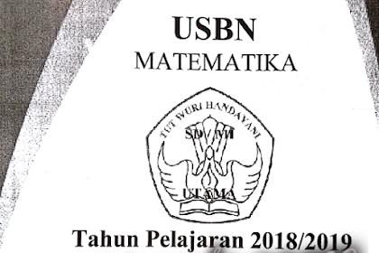Arsip Soal USBN (Ujian Sekolah Berstandar Nasional) SD Tahun 2019