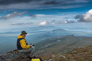 Михаил Канов на вершине горы Большой Нургуш 1406