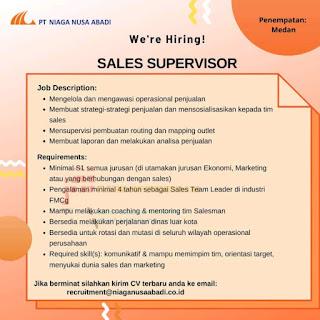 Sales Supervisor di PT Niaga Nusa Abadi