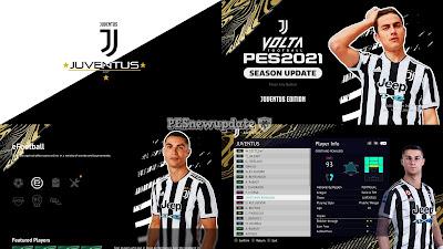 PES 2021 Menu Mod Juventus 2021/22 by PESNewupdate