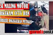 Aksi Maling Motor Digagalkan Petugas dan Terekam CCTV