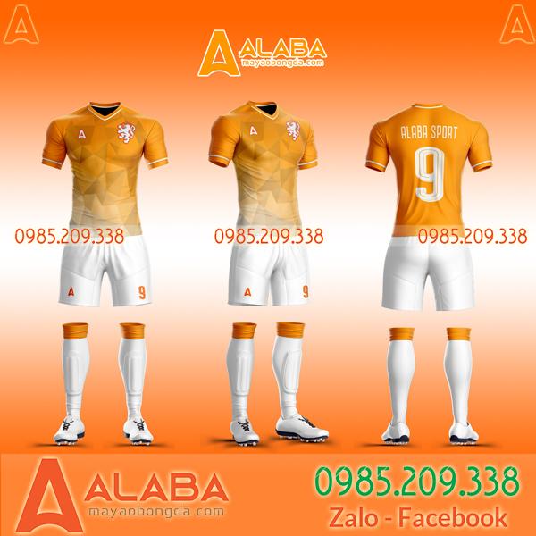 Áo bóng đá màu cam đẹp
