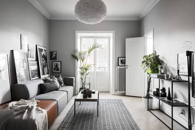 Piccolo ma elegante appartamento a stoccolma arc art by