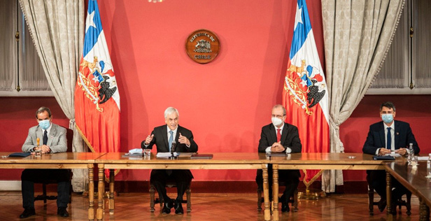 President of Chile announcing the creation of the Observatory.