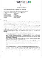 Contoh Dokumen Surat Letter Of Indemnity(LOI) Impor