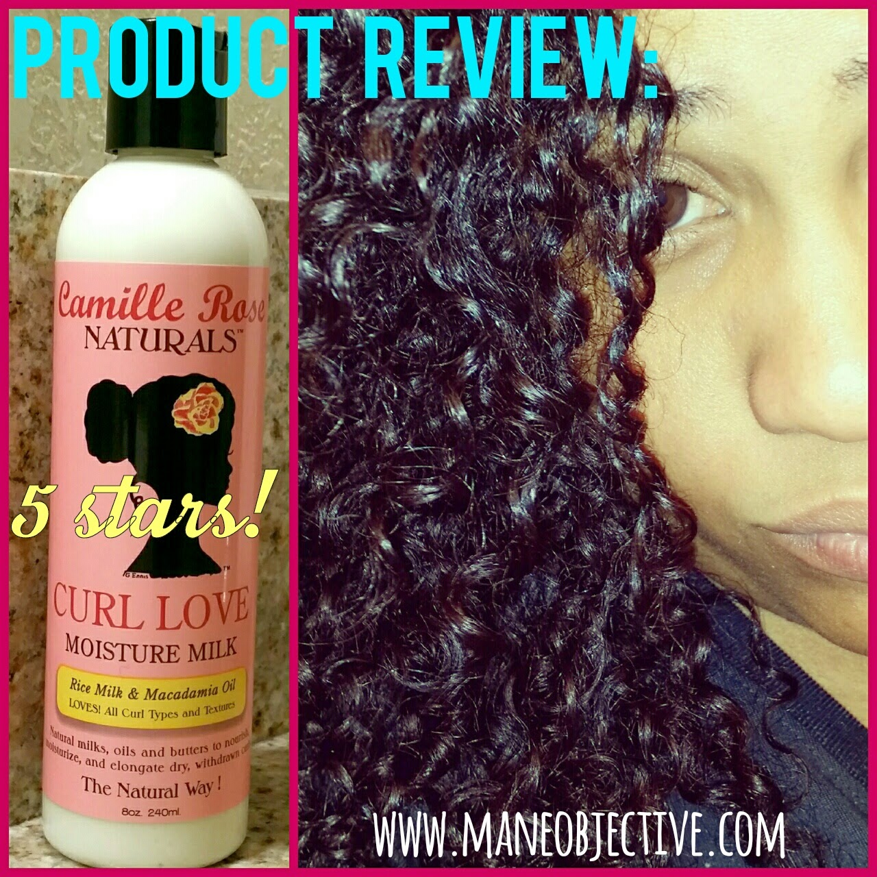 Product Review Camille Rose Naturals Curl Love Moisture Milk