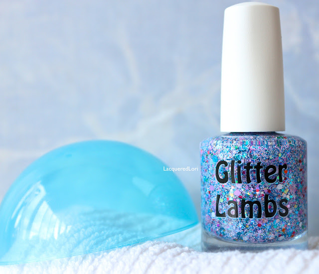 "Glitter Lambs  ""PIGGY BUBBLE BATH""  Glitter Topper Nail Polish  Pic by @LacqueredLori"