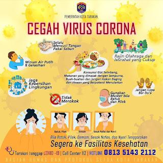 Pemerintah Kota Tarakan - Cegah Virus Corona - Tarakan Info