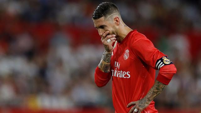 Sergio Ramos Sevilla 3 - 0 Real Madrid 2018/19