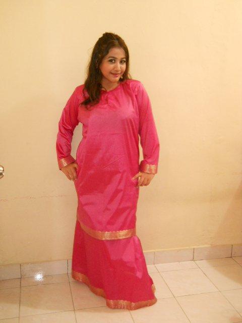 baju kurung saree untuk badan gempal