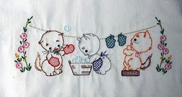 wzory starych haftów