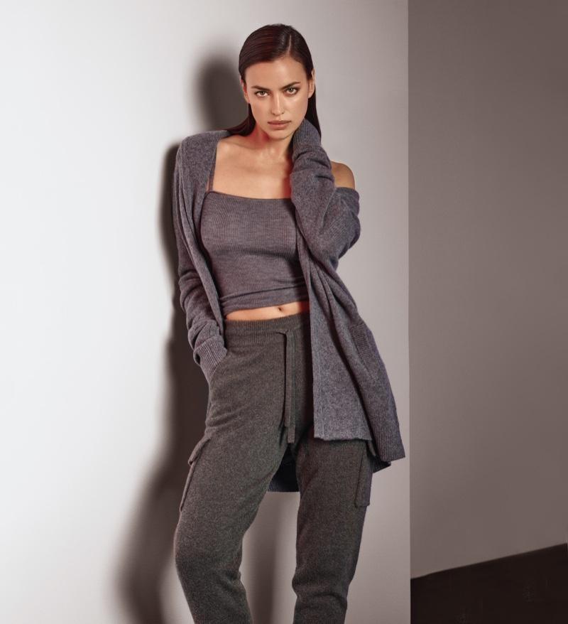 Supermodel Irina Shayk fronts NAKEDCASHMERE fall 2021 campaign