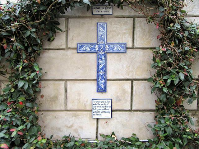 a cross by the Blandy family in English church