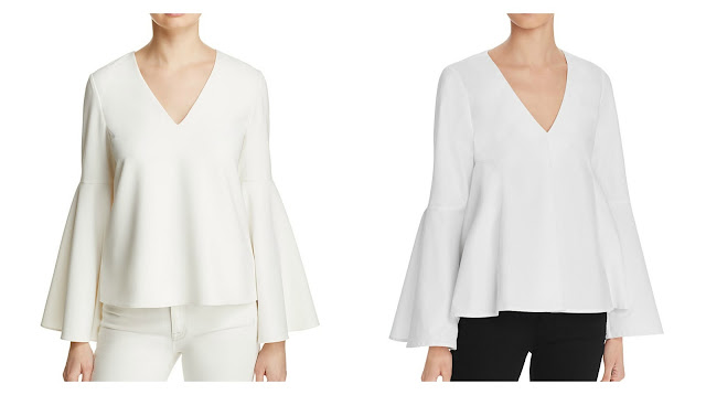 splurge vs steal bell sleeve blouse