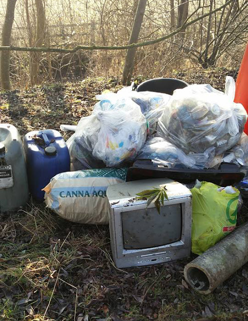 Fly tip including a TV