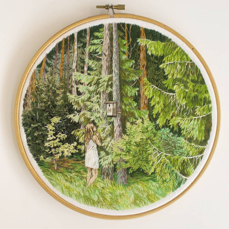 embroidery artist, needle and thread, embroidery stitches, hand embroidery pattern, embroidery art design, embroidery artist