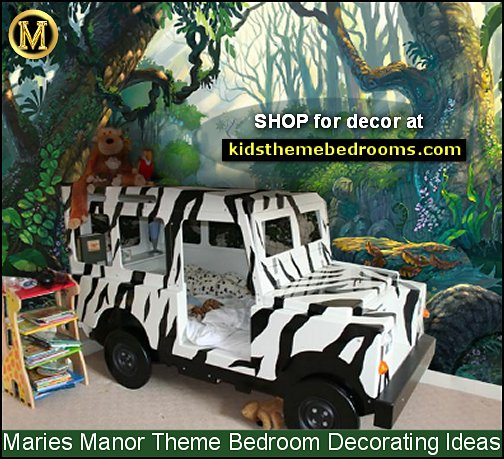 jungle mural jungle bedroom ideas jungle safari jeep beds kids rooms