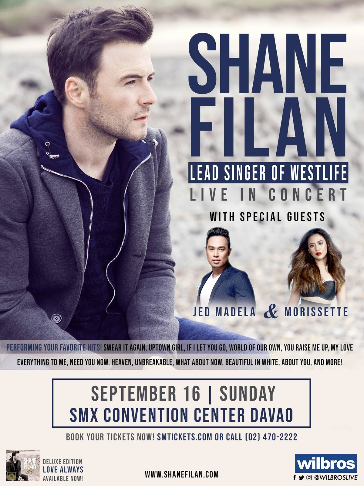 Shane Filan of Westlife Live in Davao