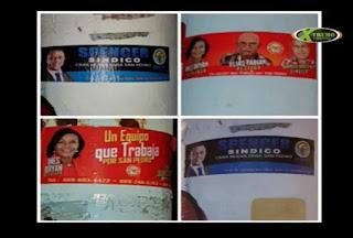 Algunos políticos pintan postes y ponen afiches en franca violacion a laly