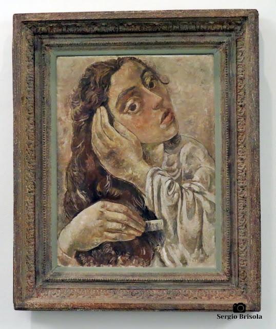 Close-up da Obra Jovem de Cabelos Compridos - Museu Lasar Segall - São Paulo