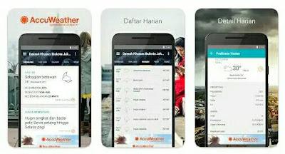 Aplikasi Ramalan Cuaca - Accuweather