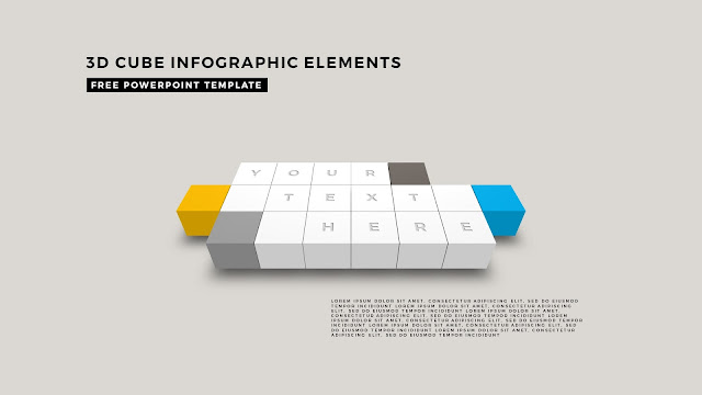 3D Cube Infographic Elements for Free PowerPoint Template Design Slide 11