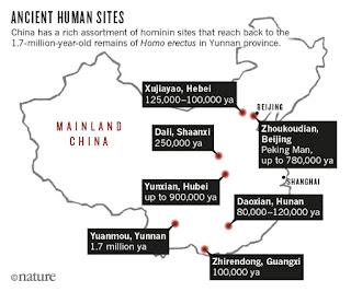 Descubrimientos de antepasados humanos en China