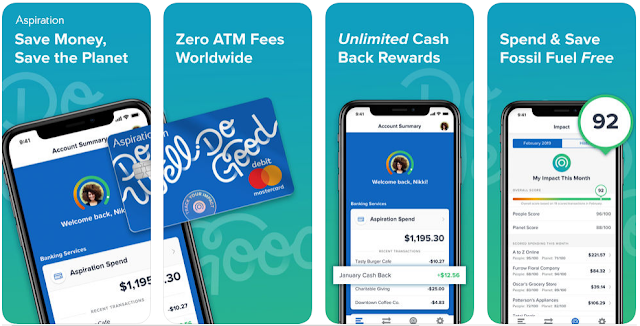 Aspiration bank Zelle cash back app