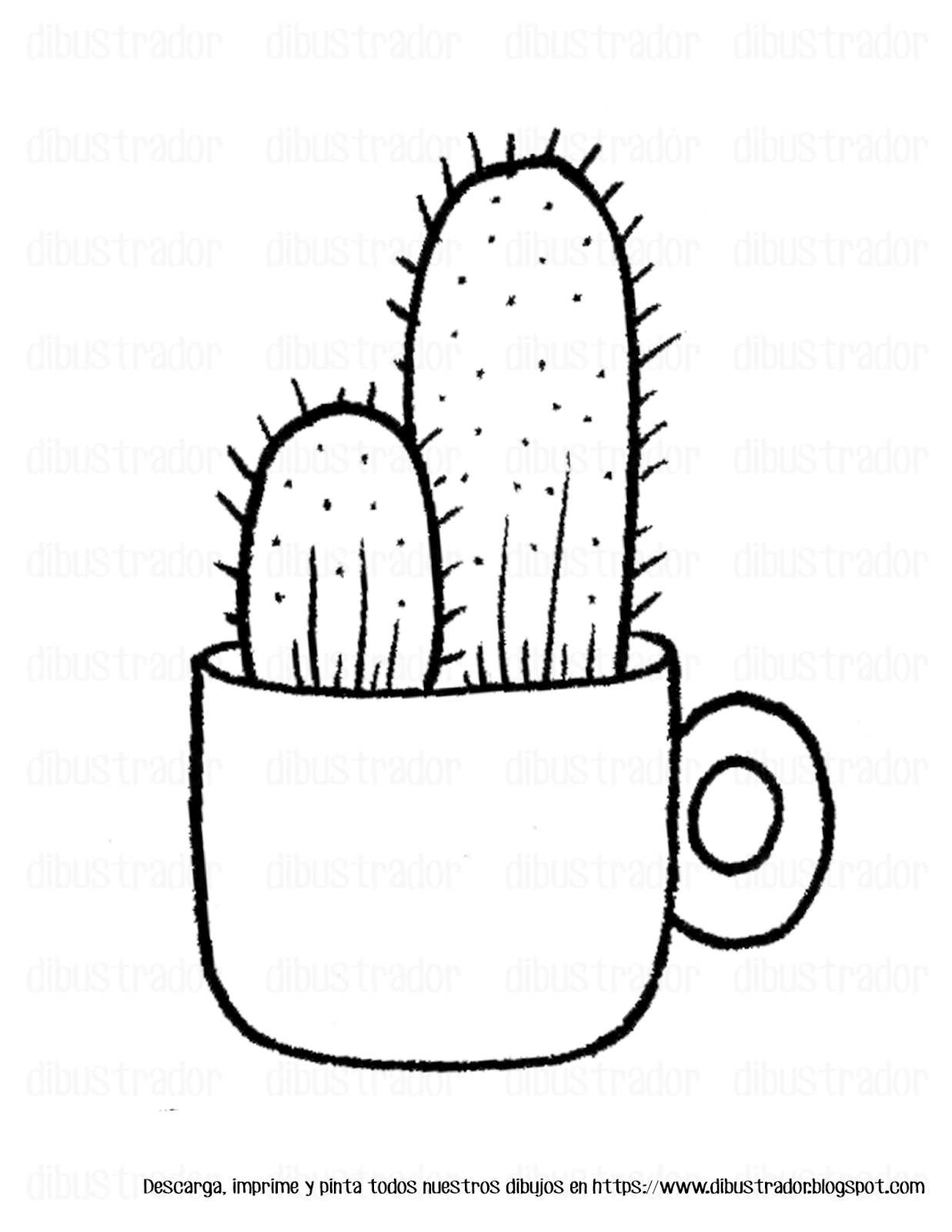 Dibujos Para Colorear Cactus