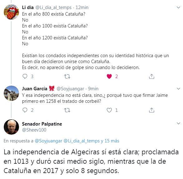 La independencia de Algeciras sí está clara; proclamada en 1013 y duró casi medio siglo, mientras que la de Cataluña en 2017 y solo 8 segundos.