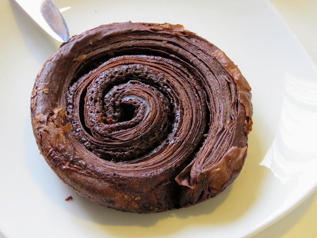 Chocolate Kouign Amann pastry from Tiong Bahru Bakery in Singapore